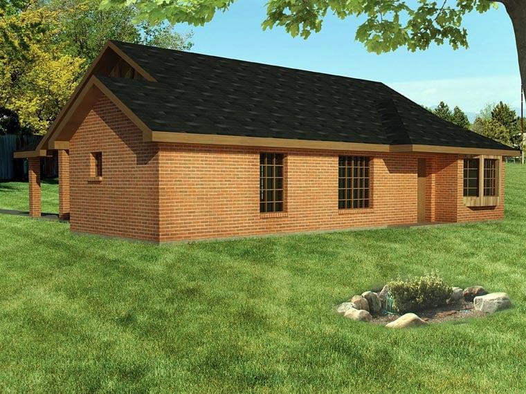 Ranch Southwest House Plan 71929 Rear Elevation