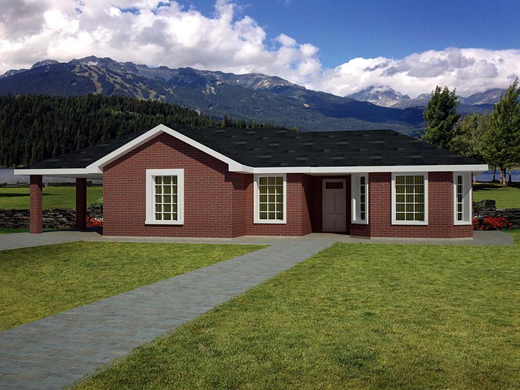 Ranch Southwest House Plan 71935 Elevation