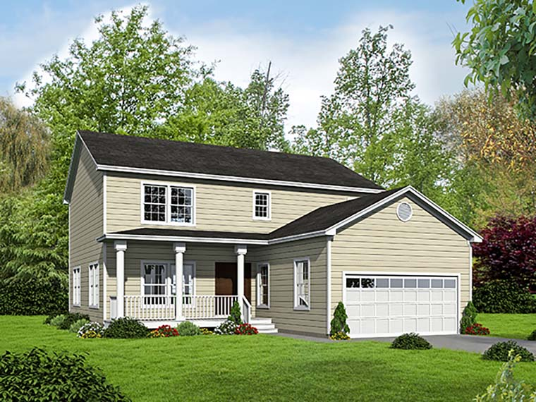 Country, Farmhouse, Traditional House Plan 71941 with 4 Beds, 4 Baths, 2 Car Garage Elevation