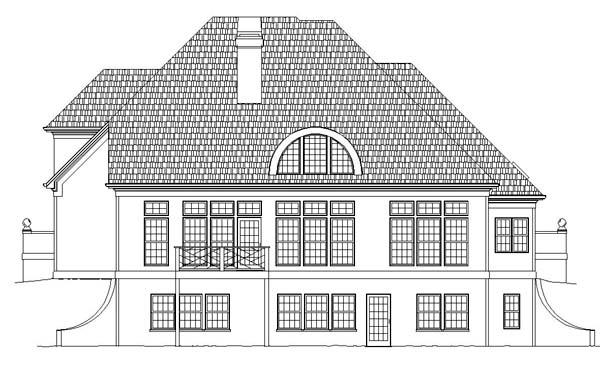 European House Plan 72001 Rear Elevation