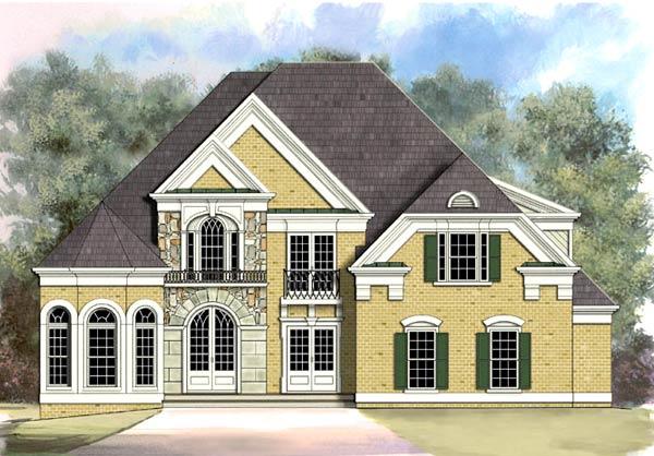 European Greek Revival House Plan 72002 Elevation