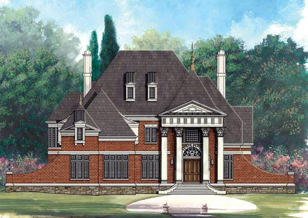 European Greek Revival House Plan 72009 Elevation