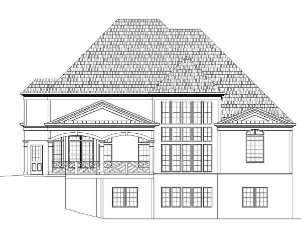 European Greek Revival House Plan 72017 Rear Elevation