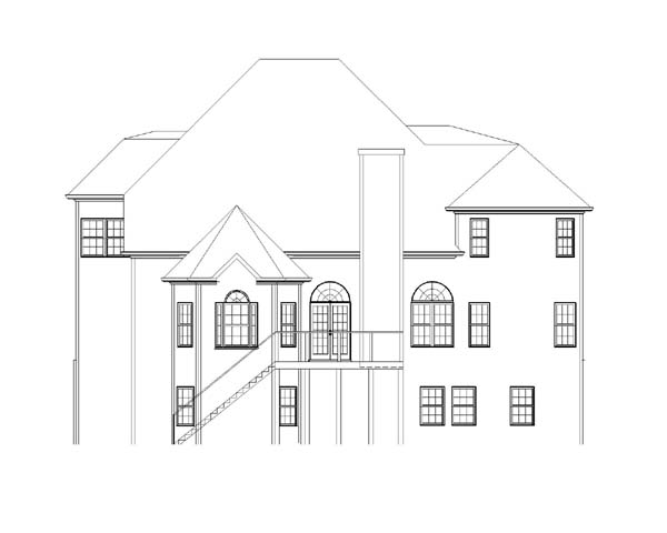 Greek Revival Traditional House Plan 72025 Rear Elevation
