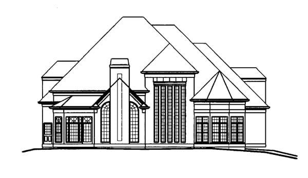 Greek Revival Tudor House Plan 72027 Rear Elevation