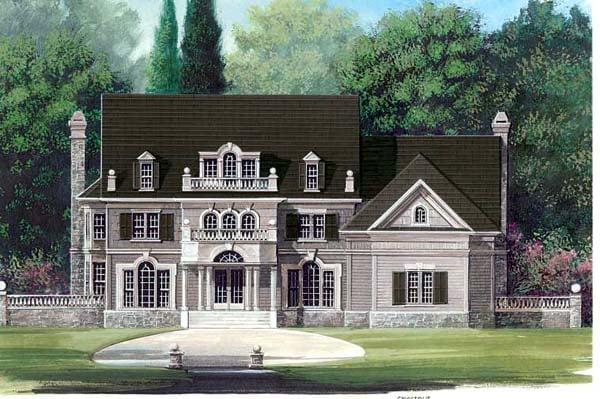 Colonial Greek Revival House Plan 72031 Elevation