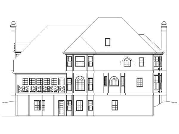 Colonial Greek Revival House Plan 72031 Rear Elevation