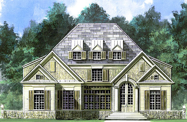 Colonial European Greek Revival House Plan 72043 Elevation