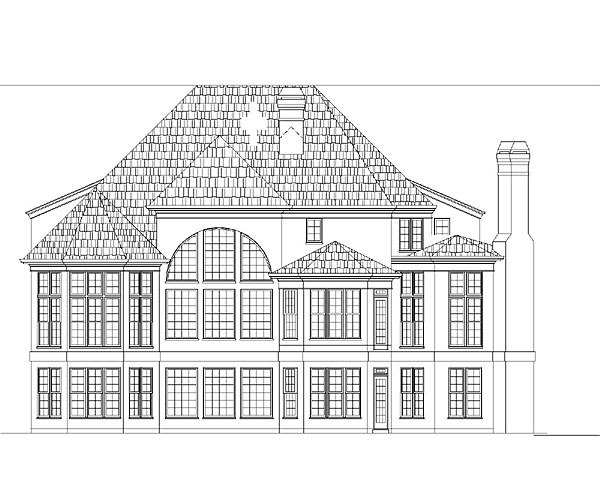 Colonial European Greek Revival House Plan 72043 Rear Elevation