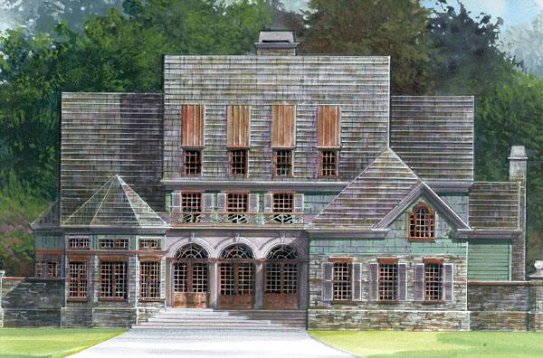 European Greek Revival House Plan 72044 Elevation