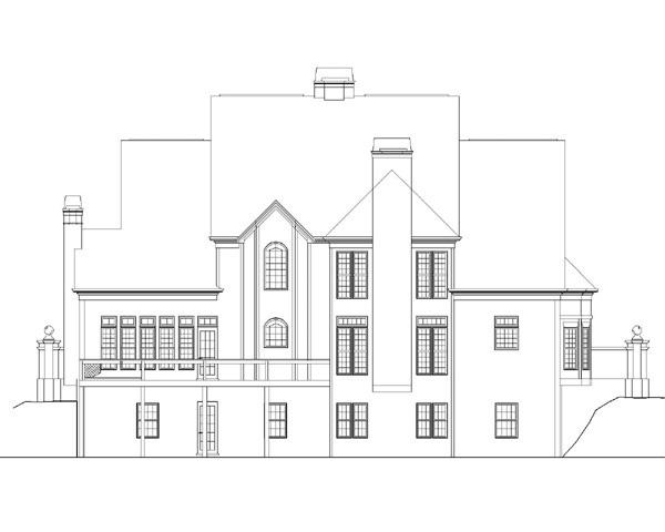 European Greek Revival House Plan 72044 Rear Elevation
