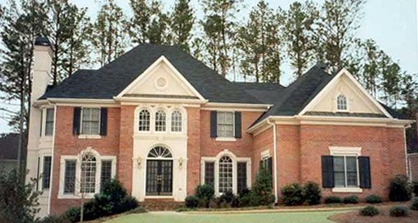European, Greek Revival House Plan 72046 with 4 Beds, 4 Baths, 2 Car Garage Elevation