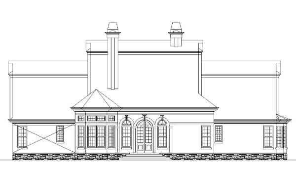 Colonial House Plan 72047 Rear Elevation