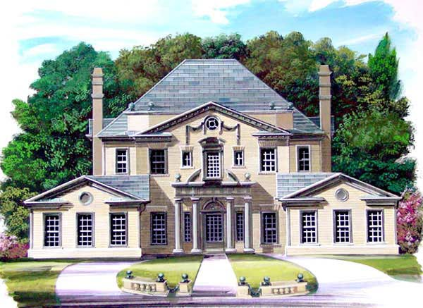 Colonial Greek Revival House Plan 72049 Elevation