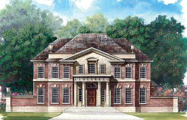 Colonial Greek Revival House Plan 72050 Elevation