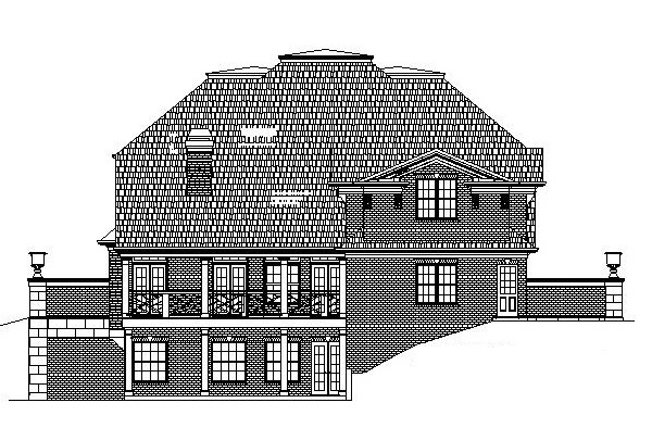 Colonial Greek Revival House Plan 72050 Rear Elevation