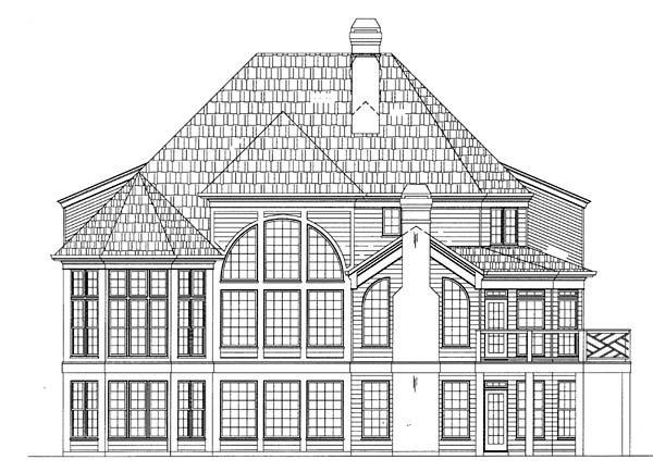 Colonial European Greek Revival House Plan 72054 Rear Elevation