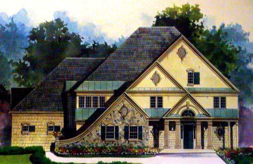 Greek Revival Tudor House Plan 72059 Elevation