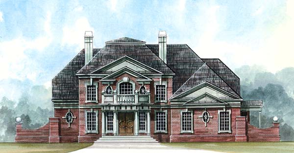 Elevation of Colonial   Greek Revival   House Plan 72060