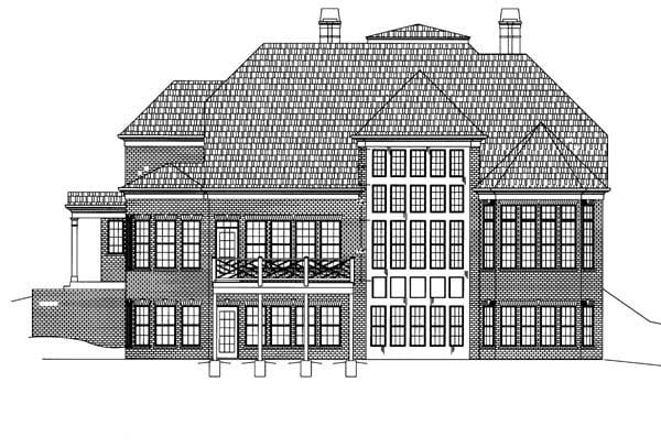 Colonial Greek Revival House Plan 72060 Rear Elevation