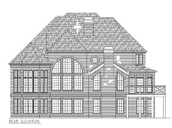 European Greek Revival Traditional House Plan 72068 Rear Elevation