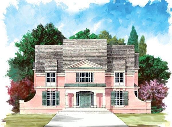 Colonial European House Plan 72072 Elevation