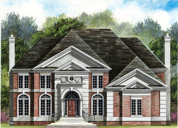 Colonial European House Plan 72075 Elevation