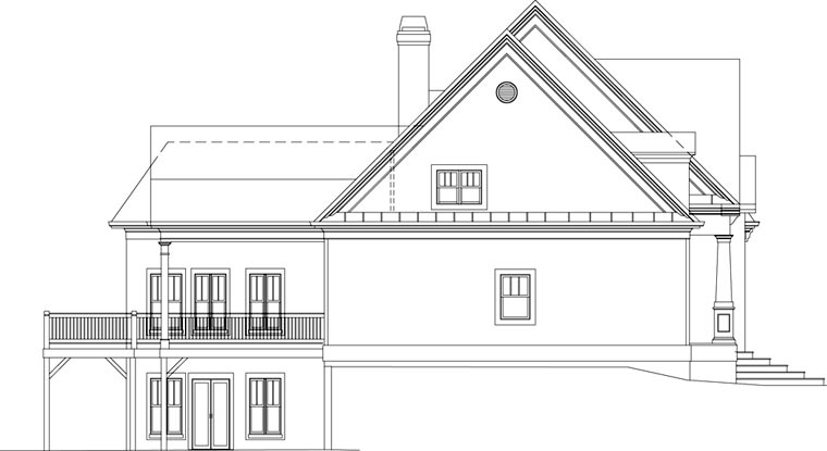 Craftsman House Plan 72076 with 4 Beds, 3 Baths, 2 Car Garage Picture 1