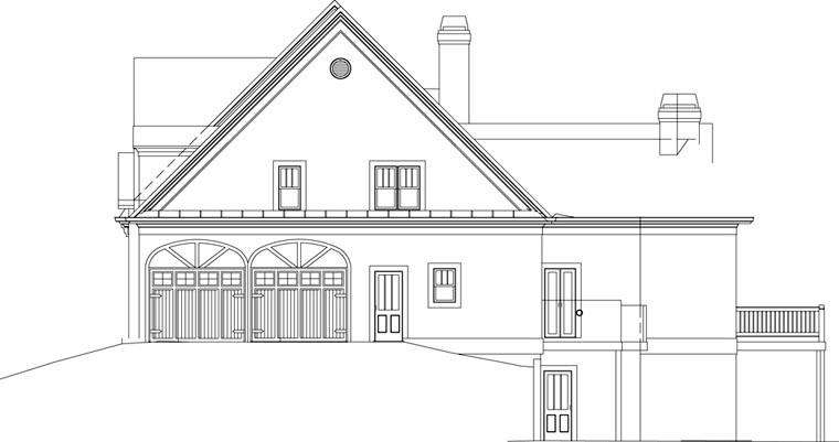 Craftsman House Plan 72076 with 4 Beds, 3 Baths, 2 Car Garage Picture 2