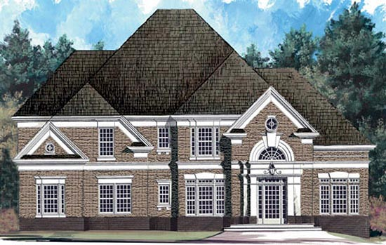 European Tudor House Plan 72079 Elevation