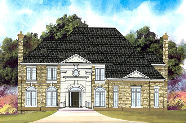 Colonial European Greek Revival House Plan 72080 Elevation