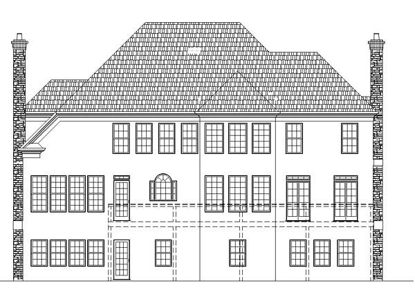 Colonial European Greek Revival House Plan 72080 Rear Elevation