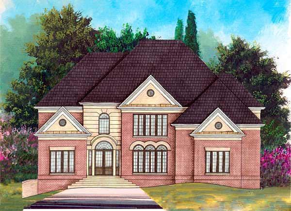 European Greek Revival House Plan 72092 Elevation