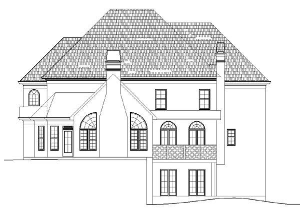 European Greek Revival House Plan 72092 Rear Elevation