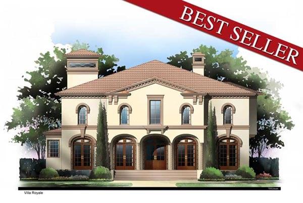 Greek Revival Mediterranean House Plan 72095 Elevation