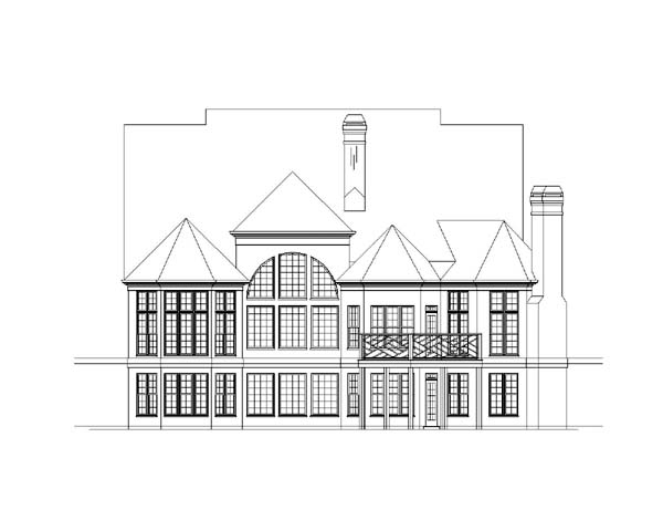 European Greek Revival House Plan 72101 Rear Elevation