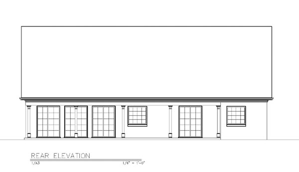 House Plan 72111 Rear Elevation