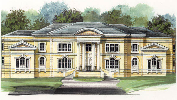 Colonial, Greek Revival House Plan 72118 with 4 Beds, 5 Baths, 3 Car Garage Elevation