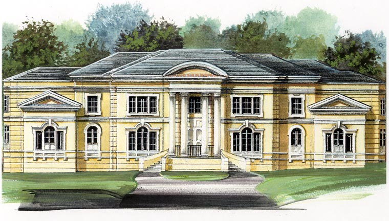 Colonial, Greek Revival Plan with 6177 Sq. Ft., 4 Bedrooms, 5 Bathrooms, 3 Car Garage Picture 4