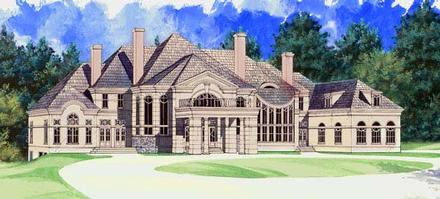 Colonial Greek Revival Elevation of Plan 72129