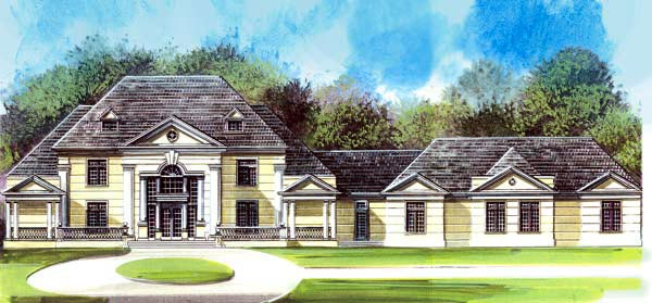 Colonial Greek Revival House Plan 72144 Elevation