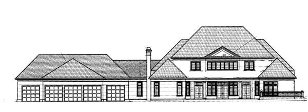 Colonial Greek Revival House Plan 72144 Rear Elevation