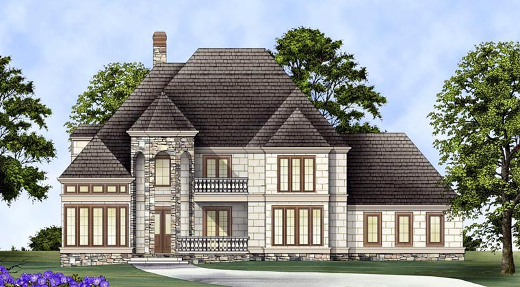 European Greek Revival House Plan 72153 Elevation