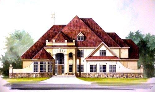 Greek Revival Traditional House Plan 72154 Elevation