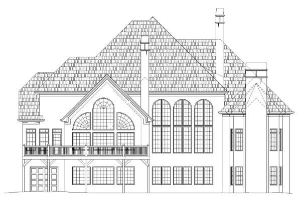 Greek Revival Traditional House Plan 72154 Rear Elevation