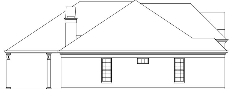 European House Plan 72162 with 3 Beds, 3 Baths, 2 Car Garage Picture 1