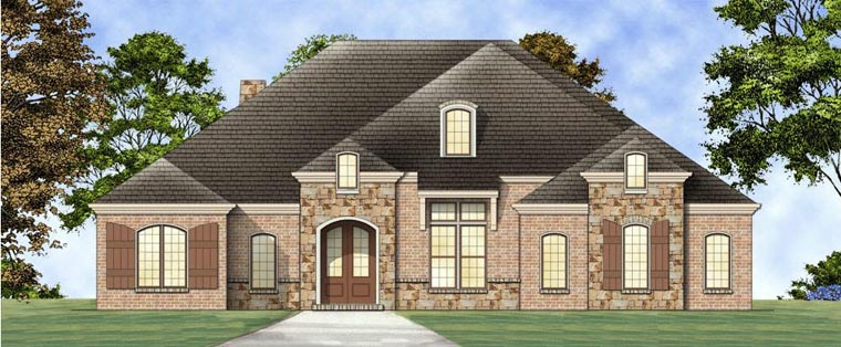 European House Plan 72164 Elevation