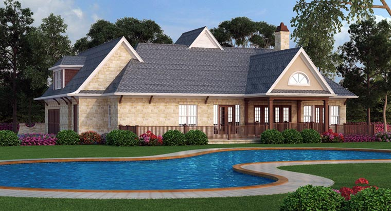 European French Country Traditional House Plan 72166 Rear Elevation