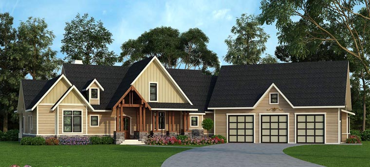 House Plan 72170 Elevation