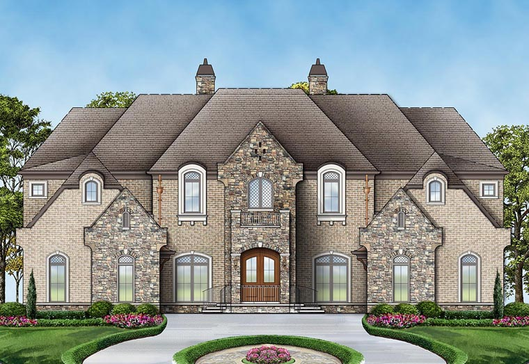 House plan 72171 at for French european house plans